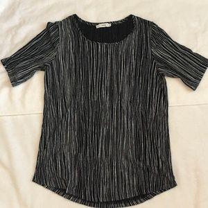 Vince Shirt Black White Stripes Burnished XS